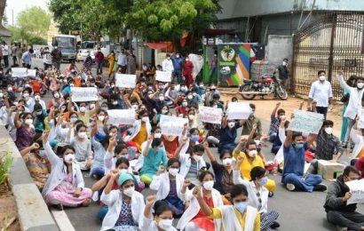 Gandhi Hospital junior doctors launch strike