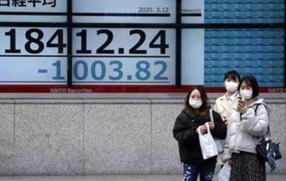 World shares slip as global virus tally approaches 9 million