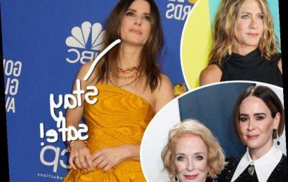 Sandra Bullock SAFELY Celebrates Her Birthday With Jennifer Aniston & Sarah Paulson!