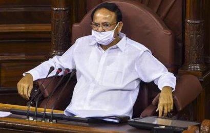 45 newly-elected Rajya Sabha members take oath; Naidu urges them to uphold rules