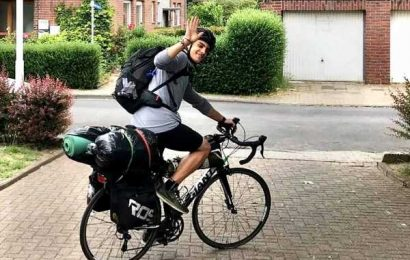From Scotland to Greece… Student biked for 48 days to make it back home