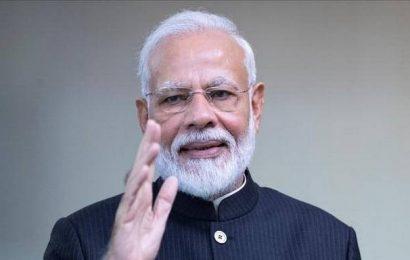 PM Narendra Modi arrives in Leh