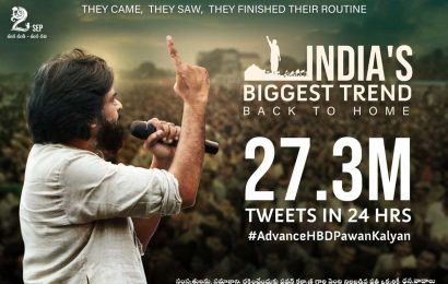 Pawan Kalyan Fans breaks Biggest Trend in India, creates All India Outstanding Record
