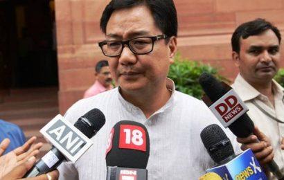 Hopeful India will organise sporting events in September-October: Kiren Rijiju