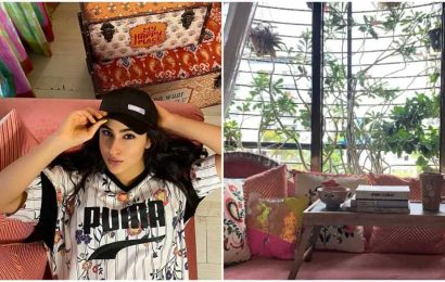 Sara Ali Khan takes fans inside her colourful home, shows her 'happy place'. See pics