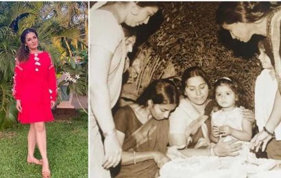 Raveena Tandon shares a childhood throwback, talks of an era 'when birthday parties were simple'. See photo