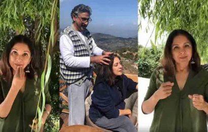 Neena Gupta says she learnt sign language during lockdown due to husband's phone addiction. Watch