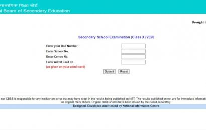 CBSE 10th Result 2020 declared at cbseresults.nic.in, direct link here