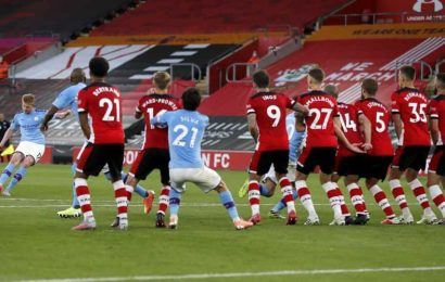 Manchester City lose 1-0 at Southampton after moment of magic by Adams