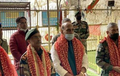 Rajnath Singh visits forward post, offers prayers at Amarnath cave shrine during J-K visit