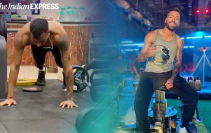 Hardik Pandya shows his strength by nailing jumping push-ups; watch video