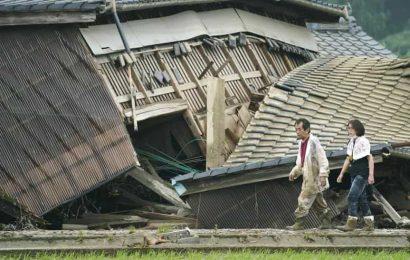 Japan floods leave some 20 dead, many in nursing homes