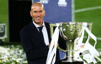 Zidane key to Madrid's 1st league title without Ronaldo