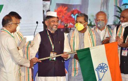 D K Shivakumar officially takes charge as Karnataka Congress chief