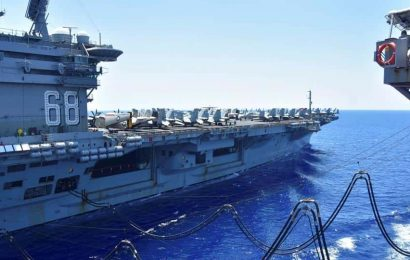Supercarrier Nimitz to conduct basic exercise with Indian Navy en route to Middle East