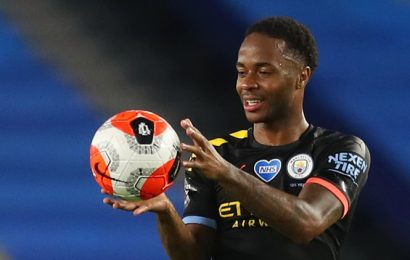 Sterling scores hat-trick as Manchester City hit Brighton for five, Chelsea's Champions League hopes hit