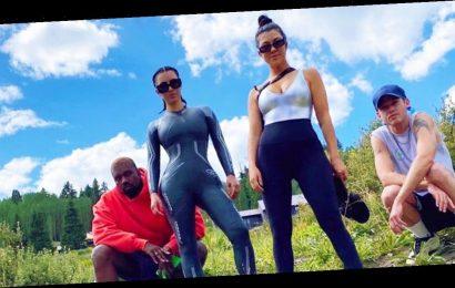 Kim Kardashian Goes Paddleboarding With Kanye, Kourtney and North: Pics