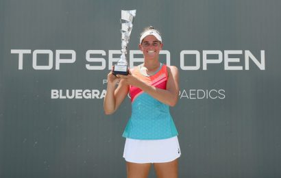 Tennis returns to US as Brady claims first WTA title