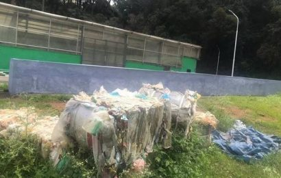 Plastic waste used as construction material to build retaining walls in Coonoor