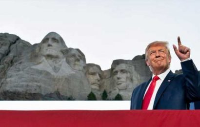 'A good idea', says Trump as he denies White House asked about adding him to Mount Rushmore