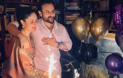 Happy birthday Saif Ali Khan: Kareena Kapoor wishes 'sparkle' of her life