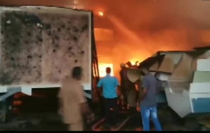 Fire breaks out at boat manufacturing factory in Puducherry, eight fire tenders at spot