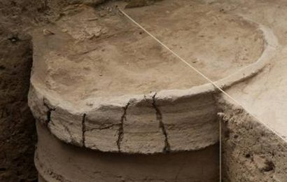 Terracotta ring well unearthed at Agaram
