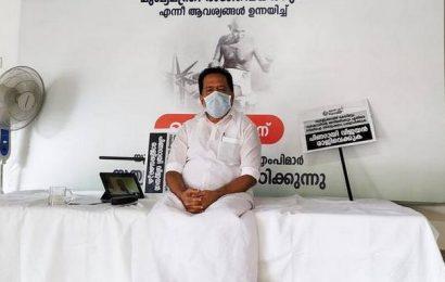 Kerala Opposition leader begins sit-in protest demanding CM's resignation