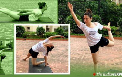 Fitness tips: Stretch like Tamannaah Bhatia to feel energised