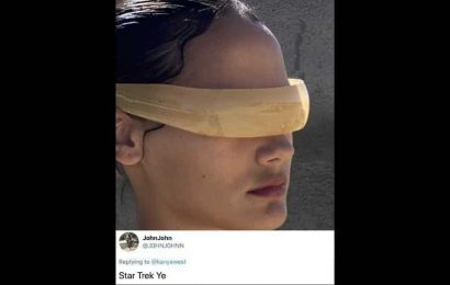 Kanye West posts pictures of new Yeezy sunglasses, Twitter reacts