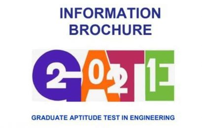 GATE 2021 information brochure released at gate.iitb.ac.in, application process begins on September 14