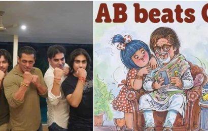 Salman Khan celebrates rakhi with family, Amitabh Bachchan takes on a troll over latter's Amul ad jibe