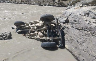 Two ITBP jawans missing after vehicle falls into Sutlej river