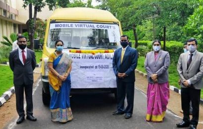 Virtual court connecting mobile van launched in Adilabad