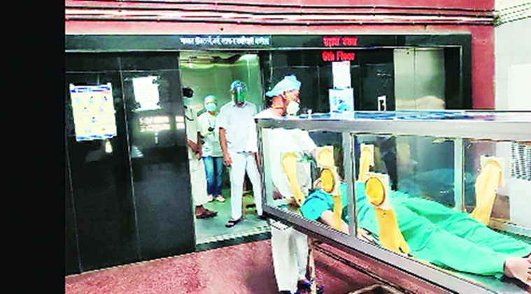 Mumbai: JJ hospital improvises 'Covid transport kawach' for contactless transfer of patients
