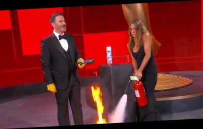 Jennifer Aniston, Jimmy Kimmel's Emmys Fire Gag Perfect 2020 Metaphor