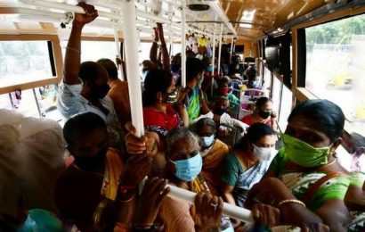 No physical distancing on some Chennai buses on day two of service resumption