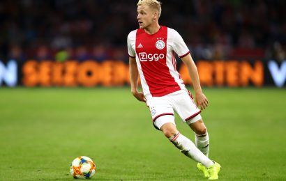 Manchester United sign Dutch midfielder Van de Beek