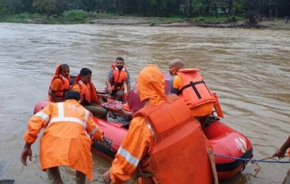 Firemen rescue bleeding tribal woman