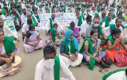 Farmers stage protest across northern districts