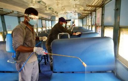 Rail services to resume today, passenger coaches disinfected at Tiruchi