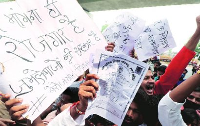 Protests across UP over unemployment, two SP leaders held, over 170 booked in Lucknow
