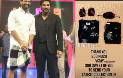 Vijay Deverakonda surprises Allu Arjun by sending special gift
