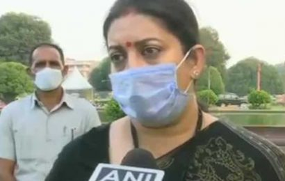 This kind of attack on the Chair…:Smriti Irani on Opposition's ruckus in Rajya Sabha