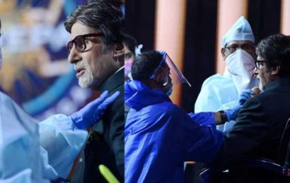 Amitabh Bachchan assures fans about 'care and caution' on Kaun Banega Crorepati sets. See pics