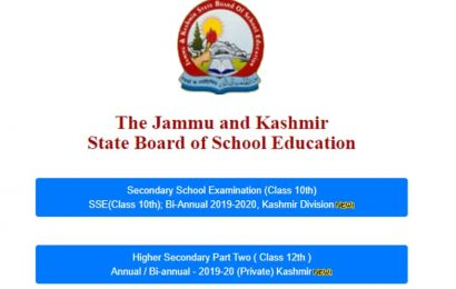 JKBOSE 10th, 12th Kashmir division bi-annual result 2020 declared at jkbose.ac.in, direct links here