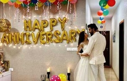 Charu Asopa, Rajeev Sen celebrate first wedding anniversary, see pics and video