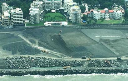 Aerial images show coastal road reclamation far beyond requirement: Environmentalist to SC