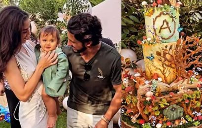 Amy Jackson throws enchanted garden party as son Andreas turns one, check out his special birthday cake