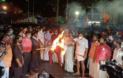 Late night protest in Kerala after minister grilled by ED in FCRA violation case